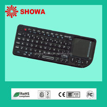 2.4G Mini wireless keyboard with integrated touchpad for android