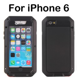 Newest popular mobile phone aluminum case for iphone 6/unique shockproof phone accessories metal case for iphone 6