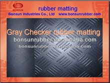 3mm-6mm thick BONSUN various pattern flooring anti slip rubber mat