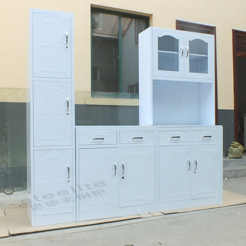 China made new style metal kitchen cabinet for sale buy for Steel kitchen cabinets