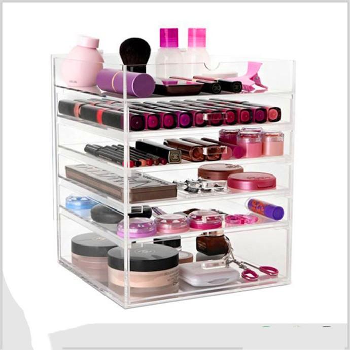 5 niveau acrylique maquillage organisateur plexiglas. Black Bedroom Furniture Sets. Home Design Ideas