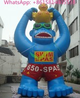Hot sale commercial grade PVC Tarpaulin brand new CA-71 inflatable gaint gorilla