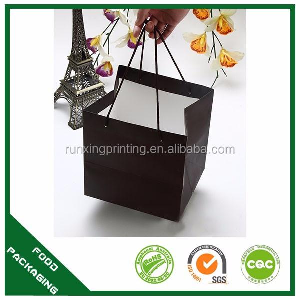 Sushi saco de papel reciclável, papel selado saco de comida