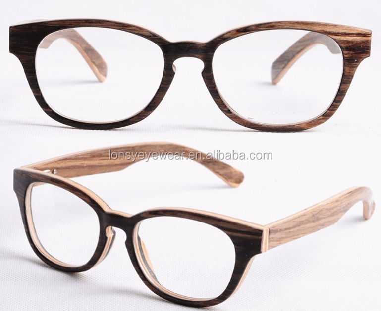 Ebony wood frame reading glasses, wood prescription ...