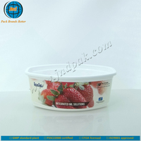 2015 best selling plastic yogurt cup come with logo with FSSC 22000 certified by GMP standard plant