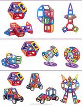 198PCS/SET DIY educational toy plastic magnetic building blocks for kids