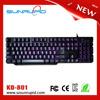 Mini laptop light up keyboard, mechanical type backlit gaming keyboard with led lights