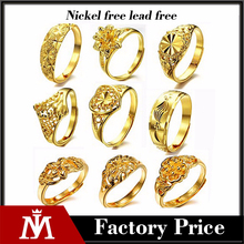 18 k gold plated women ring , fashion gold ring