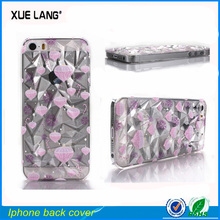 Diamond style Leather Back Cover for iphone 5