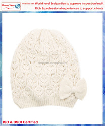 With faux pearls Girls's Fashion Winter Hat,white wholesale beret hats,Girls Beanie Hat Winter Hat Knitted Hat