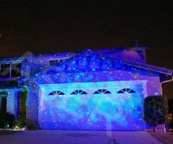 Elf lumi re mini vert bleu graphiques lumi re laser for Eclairage noel exterieur projecteur