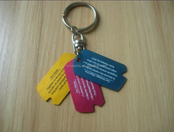 letter printed aluminum dog tags for company