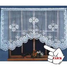 Encajes de ganchillo cortinas patrón para cocina ventanas cortinas