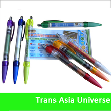 High Quality Logo Promotion Pen With Roll Out Paper
