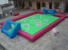 inflatable mini football pitch for kids playing inside