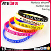 Wholesale latest technology custom segment colors silicone bracelets