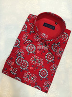 2015 latest shirts for men pictures/men casual shirts red printed pattern shirts/fashion shirts