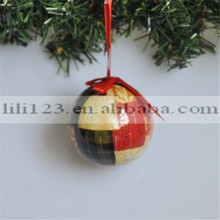 Top Selling 8CM Christmas Tree Ornaments Paper Ball