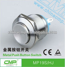 factory wholesale price export 19mm waterproof push button switch