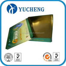metal materia can tinplate metal type box for health products