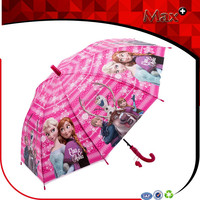 New product cheap kid POE eco-friendly material frozen umbrella Elsa and Anna