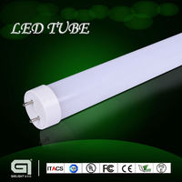 Shenzhen factory led tube light t8 with external driver, frosted cover, single power supply,2400mm