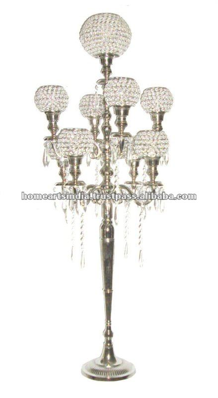 Hot wedding crystal candelabra on sale decorative tall