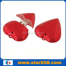 valentine's day hot selling!!! heart shape usb pendrive 8gb with full capacity
