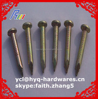 flat head concrete nails,mushroom head concrete nail from china manufacture factory
