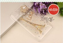 Shemax Promotion Leather Diamond Cover Case for Huawei Y330