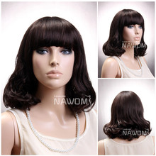 T0110 Hot sale fashion kinky curly style synthetic lace front wig for black women
