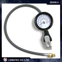 Heavy duty Car Dual Head Tire Inflator Pressure Gauge Air Chuck
