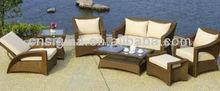 2014 mobília do rattan moderno terraço sofá de vime conjunto