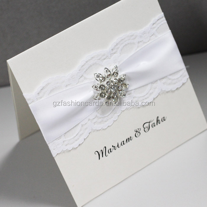 Luxury Lace Handmade Wedding Invitation Card Designs - Buy Handmade ...