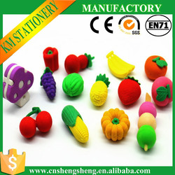 novelty asian fruit and vegetable promotional erasers