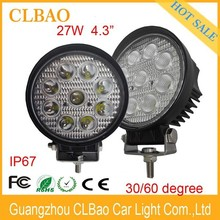 High quality 12v 4.3inches rounde 27w led driving light led worklight