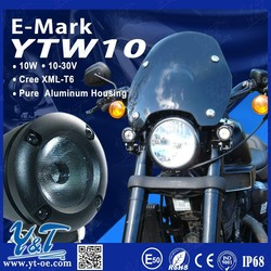 Y&T Latest design LED working lights, motorcycle parts accessories, led motorcycle 12v/24v light for honda
