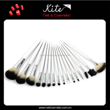 New classic white 10pcs make up brushes set with cosmetic PU bag