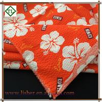 Polyester cotton blend seersucker / blister fabric for Bedding Curtain Kids Dress