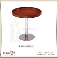 hotel room small tea table set, simple design metal coffee table, side table stainless steel