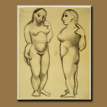 High quality pure hand-painted oil painting Picasso painting abstract nude figure painting