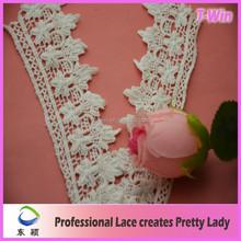 TW1047 White Stretch Lace Trim Elastic Lace Trimming Bridal Wedding Garters