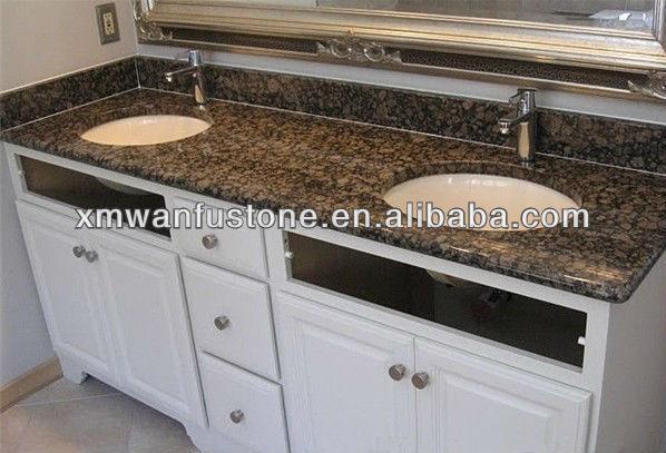 Cheap double sink bathroom granite vanity top buy cheap - Discount granite bathroom vanity tops ...