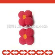 2012 newest hot sale Sun flower shaped Sponge Hair Roll