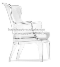 Top grade acrylic transparent leisure chair sofa with cushion wholesale