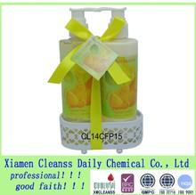 Hot Sale shower gel sets /Bath Gift Sets In Fruit Scents