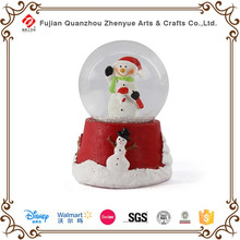 Antique Human Snowman snow globes