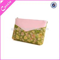 Hot Selling fashionable makeup case button pvc cosmetic bags