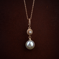 Italian Rigant latest jewelry pearl necklace with 24k gold plated pearl pendant necklace for costume jewellery