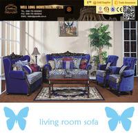 dark blue color living room fabric sofa, sofa furniture Shenzhen China